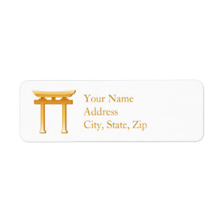 Shinto Symbol Return Address Label
