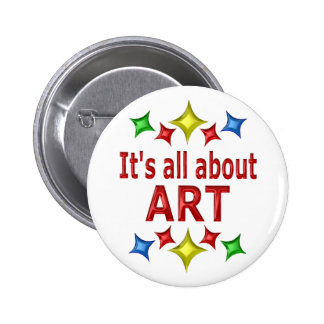 Shiny About Art Pinback Buttons