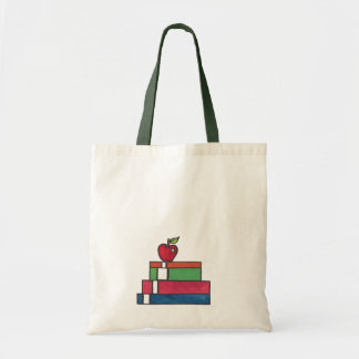 Shiny Apple book tote bag