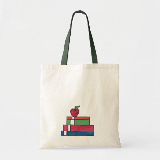 Shiny Apple, book tote bag