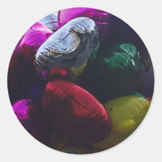 Shiny balloons classic round sticker