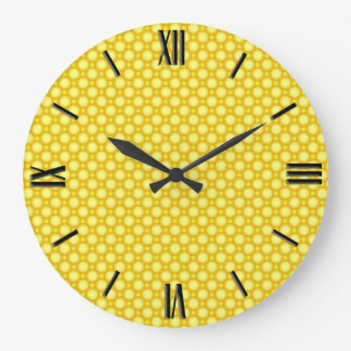 Shiny beads - yellow large clock
