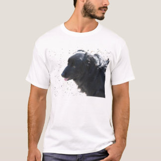 shiny black dog T-Shirt