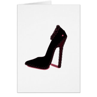 SHINY BLACK HEEL CARD