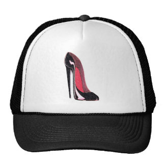 Shiny Black Stiletto Shoe Hat