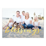 Shiny Blessings Holiday Photo Card 13 Cm X 18 Cm Invitation Card