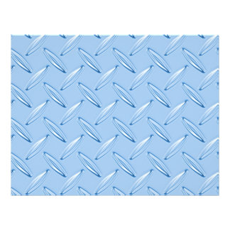 shiny blue diamond plate textured 21.5 cm x 28 cm flyer