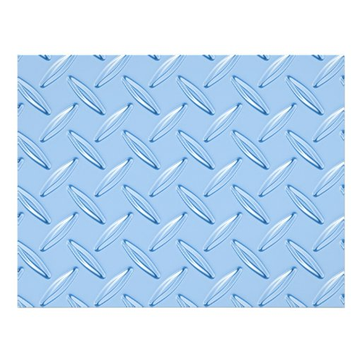 shiny blue diamond plate textured personalized flyer