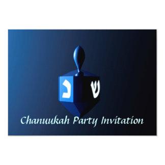 Shiny Blue Dreidel 13 Cm X 18 Cm Invitation Card