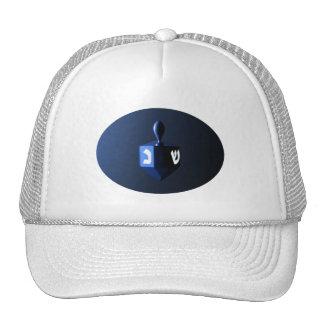 Shiny Blue Dreidel Cap