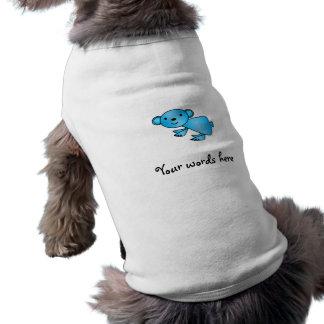 Shiny blue koala sleeveless dog shirt
