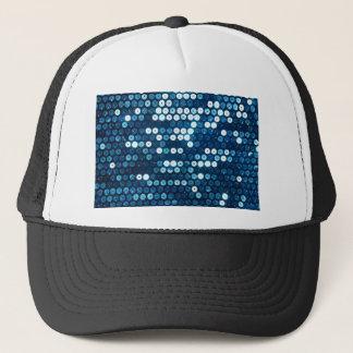 shiny blue sequins trucker hat