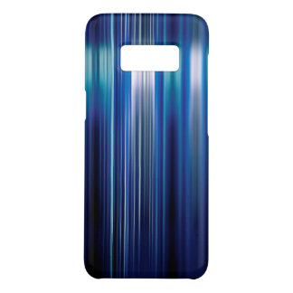 Shiny blue stripes pattern Case-Mate samsung galaxy s8 case