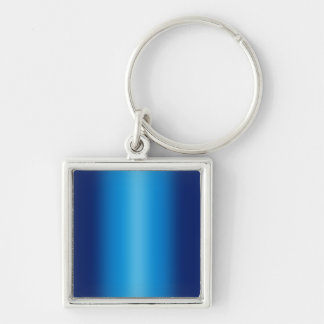 Shiny Blues Background Silver-Colored Square Key Ring