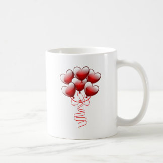 Shiny Bright Love Heart Balloons Coffee Mug