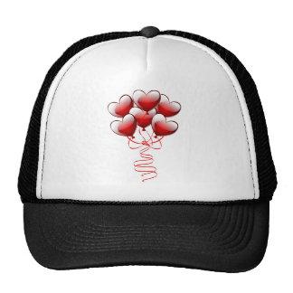 Shiny Bright Love Heart Balloons Mesh Hat