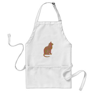 SHINY Brown CAT: KIDS Love Kitty Kittens LOWPRICE Apron