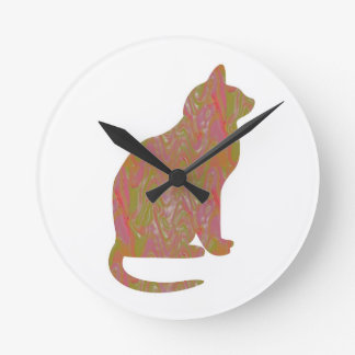 SHINY Brown CAT KIDS Love Kitty Kittens LOWPRICE Clock