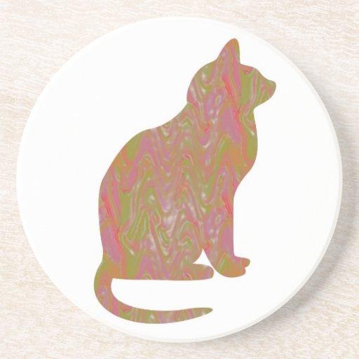 SHINY Brown CAT: KIDS Love Kitty Kittens LOWPRICE Coaster