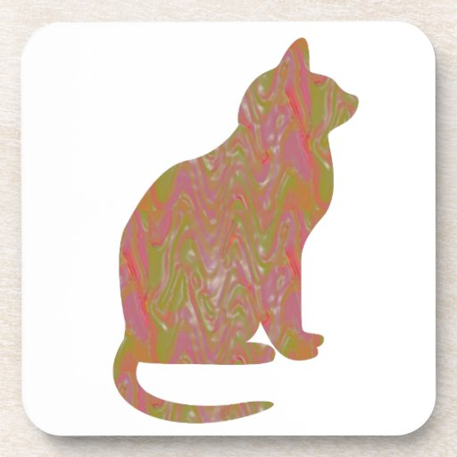 SHINY Brown CAT: KIDS Love Kitty Kittens LOWPRICE Drink Coaster