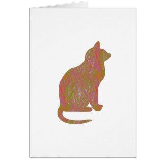 SHINY Brown CAT: KIDS Love Kitty Kittens LOWPRICE Greeting Card