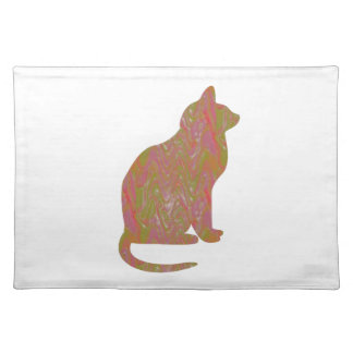 SHINY Brown CAT: KIDS Love Kitty Kittens LOWPRICE Placemat