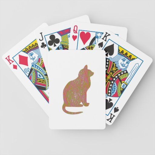 SHINY Brown CAT: KIDS Love Kitty Kittens LOWPRICE Bicycle Poker Deck