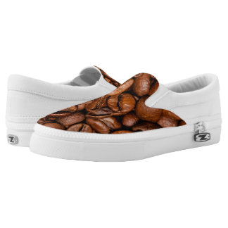 Shiny brown coffee beans Slip-On shoes