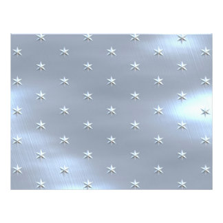 Shiny Brushed Star Metallic Texture 21.5 Cm X 28 Cm Flyer