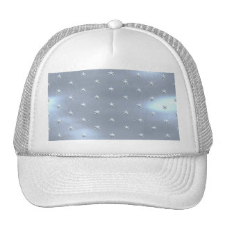 Shiny Brushed Star Metallic Texture Cap