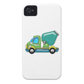 Shiny Cement Truck in Blue, Green & Yellow iPhone 4 Covers