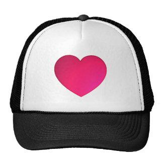Shiny Cherry Red Heart Hats