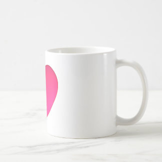 Shiny Cherry Red Heart Mugs