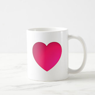 Shiny Cherry Red Heart Coffee Mug