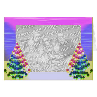 Shiny Christmas Tree Greetings (photo frame) Card