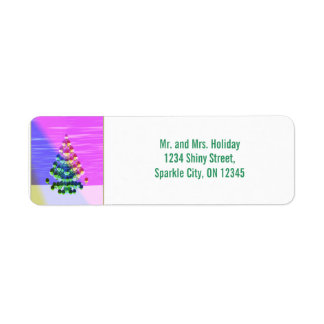 Shiny Christmas Tree Return Address Label