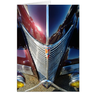 Shiny Chrome Grille of Chevrolet Hot Rod Card