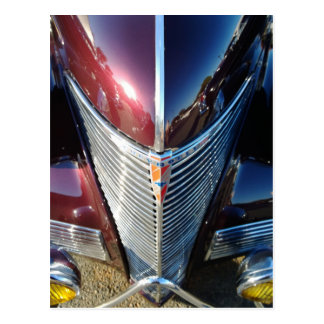 Shiny Chrome Grille of Chevrolet Hot Rod Postcard