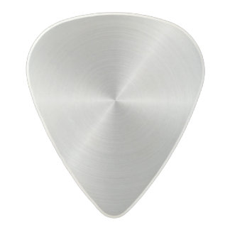 Shiny Circular Polished Metal Texture Acetal Guitar Pick