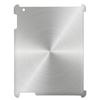 Shiny Circular Polished Metal Texture Cover For The iPad