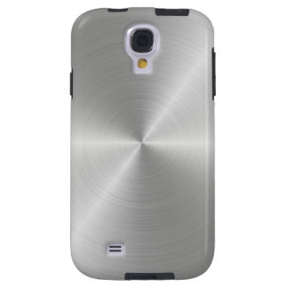 Shiny Circular Polished Metal Texture Galaxy S4 Case