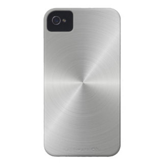 Shiny Circular Polished Metal Texture iPhone 4 Case-Mate Cases