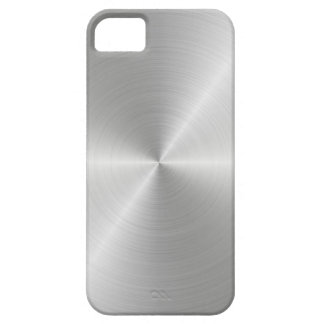 Shiny Circular Polished Metal Texture iPhone 5 Case