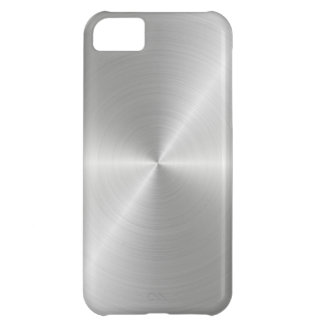 Shiny Circular Polished Metal Texture iPhone 5C Case