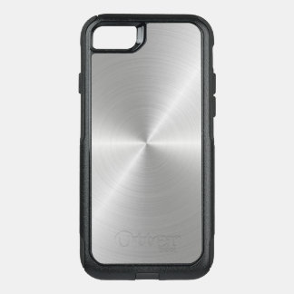 Shiny Circular Polished Metal Texture OtterBox Commuter iPhone 8/7 Case