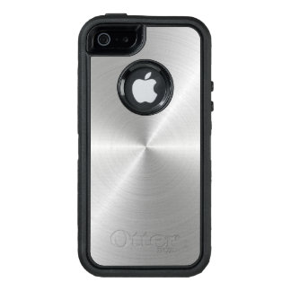 Shiny Circular Polished Metal Texture OtterBox Defender iPhone Case