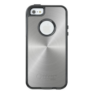 Shiny Circular Polished Metal Texture OtterBox iPhone 5/5s/SE Case