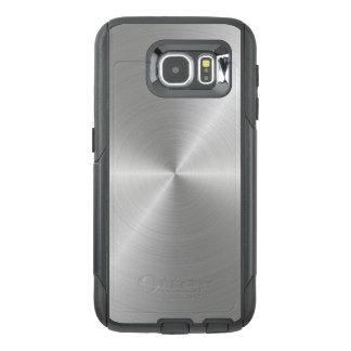 Shiny Circular Polished Metal Texture OtterBox Samsung Galaxy S6 Case