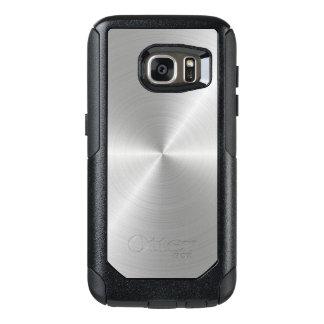 Shiny Circular Polished Metal Texture OtterBox Samsung Galaxy S7 Case