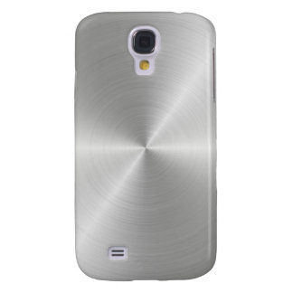 Shiny Circular Polished Metal Texture Samsung Galaxy S4 Cover